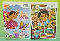 Dora Explorer Crystal + Diego Safari  - Nintendo Wii Wii U 2 Game Lot Tested