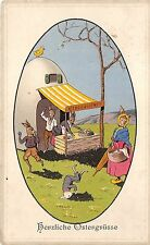 More details for bg9027  rabbit humanized  shop egg chick   ostern easter greetings germany
