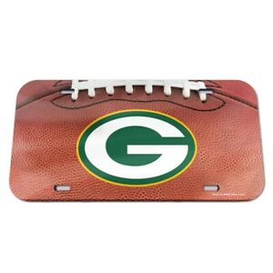 Green Bay Packers Crystal Mirror License Plate