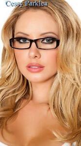 Sexy Black Secretary School-girl Glasses Costume Accessories
