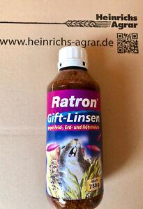 Ratron GiftLinsen 750 g gegen Feldmäuse Erdmäuse Rötelmaus Nachfüllpack Legefl