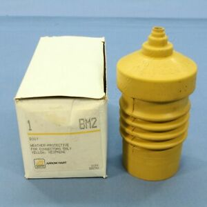 New Arrow Hart Yellow Weather Resistant Boot 3-Wire 20/30A Locking Connector BM2