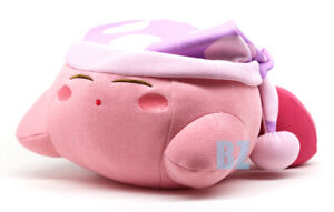 """GENUINE SK Japan Kirby of the Stars Amiami Sleeping Plush (Knitted Style) 13"""""""