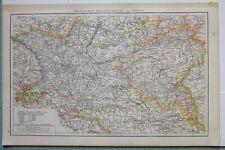 1881 Landkarte Brandenburg Posen Berlin Bromberg Guben Frankfurt Potsdam