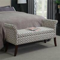 Convenience Concepts Designs4Comfort Garbo Bedroom Bench in Ribbon
