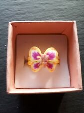 Brand new childs yellow butterfly ring size J.5! Perfect gift! Fine jewellery!