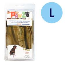 PAWZ Rubber Dog Boots L Camo 12 Per Pack Disposable Reusable Waterproof Shoes