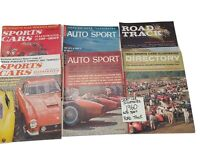 Road & Track Magazine 1960 auto  Vintage Sports car illustrated & more Lot of  6