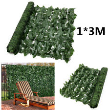 Expanding 1*3M Artificial Fake Lvy Leaf Wall Fence Green Garden Screen Hedge !