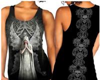 Gothic Tattoo Long Shirt Top Skull schwarz Engel Biker  42 44 46 **NEU**