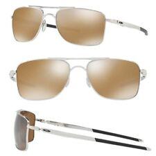 Oakley Guage 8 POLARIZED Sunglasses OO4124-0557 Chrome Frame W/ Tungsten Iridium