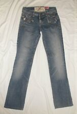 7 For All Mankind Great China Wall Embelished Jeans Size USA 26 (Actual 28 X 33)