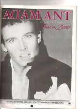ADAM ANT Puss In Boots UK magazine ADVERT/Poster/clipping 11x8 inches