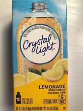 100 single packets Crystal Light Drink Mix LEMONADE flavor Vitamin C citrus NEW!