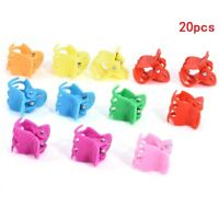 20x Colorful Assorted Mini Small Plastic Hair Clips Claws Clamps for Kids Girls