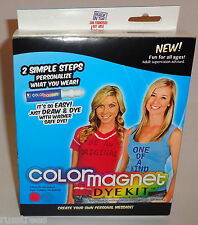 RED & TURQUOISE COLOR MAGNET DYE KIT FUN 4 ALL DYEING ENTHUSIASTS 8 TO 10 SHIRT