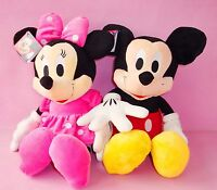 2PCS 46CM DISNEY MICKEY & MINNIE MOUSE PLUSH DOLL KID BABY SOFT BEAR STUFFED TOY