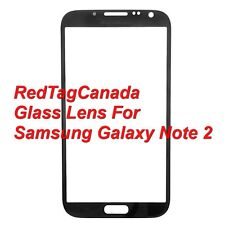 Front Outer Screen Glass Lens Replace For Samsung Galaxy Note 2 N7100 Black - CA