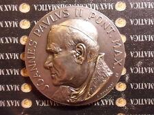 MEDAGLIA BRONZO ARGENTATO GIOVANNI PAOLO II VIAGIO USA STATI UNITI 1979