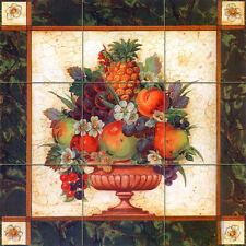 18 x 18 Tiles Art Decor Flower Fruits Ceramic Mural Backsplash Bath Tile #1215