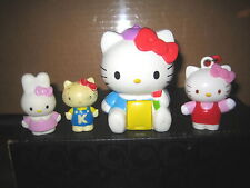 """4 RARE HTF HELLO KITTY COLLECTABLE FIGURE'S  LOT , """" SOLD AS IS """""""