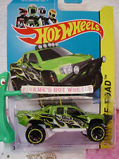Case B/C 2014 Hot Wheels SANDBLASTER #135 US~Green~HW Off-Road; Hot Truck
