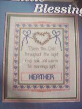Child's Little Blessing Birth Sampler Magazine Cross Stitch Pattern (C)