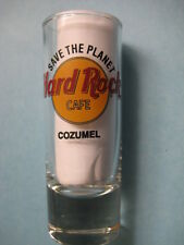 COZUMEL,Hard Rock Cafe,Shot Glass,New,Black Circle,Black Letters,Save The Planet