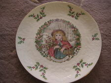 """1978 Nice Royal Doulton Christmas Plate, Second Of A Series, 8 1/4"""" Diameter"""