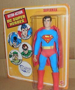 Retro Action Dc Super Heroes SUPERMAN Mosc New Mattel