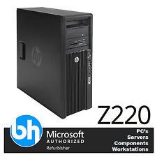HP Z220 Torre 8gb DDR3 RAM e3-1240 V2 3.4ghz PC de sobremesa Quad Core 500gb Win