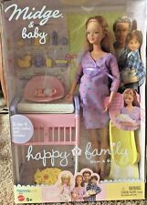 Mattel Barbie Happy Family Pregnant Midge and Baby *Rare* NEW IN BOX NLA