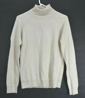 Jeanne Pierre Women's M Long Sleeve Classic Basic Simper Turtleneck Top Beige