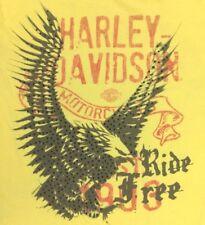 HARLEY DAVIDSON MOTORCYCLES RIDE FREE EAGLE LOGO GRAPHIC T-SHIRT WOMENS SIZE XL
