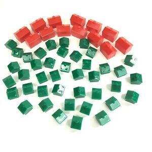 Monopoly Hotel House Replacement Addition 55 Plastic Pieces Games Crafts