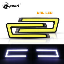 1pair White COB DRL LED Daytime Running Light for Universal Car Driving Fog Lamp