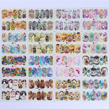 50 Sheets Animal Water Decal Butterfly Cat Dog Theme Nail Art Transfer Stickers