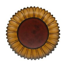 Sunflower Shape Plate Rustic Display Wooden Plate Home and Office Decor Art