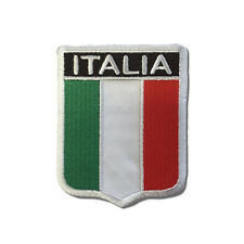 Embroidered Italy Italia Flag Shield Sew or Iron on Patch Biker Patch