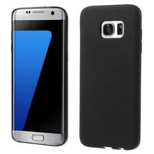 For Samsung S7 Shockproof Silicone Case Slim Cover Shell in Black