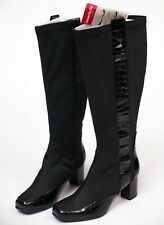 Heavenly Feet Black Knee Boots Zoe Stretch Size 4 EU 37 Gel Insoles NEW W TAGS