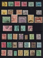 AUSTRALIA PRE-DECIMAL , STATE STAMP COLLECTION MIXED STATES...42 STAMPS