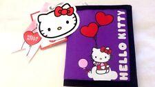 Hello Kitty - Sanrio - Portafoglio in Tessuto Rosa Viola - Cartorama - Nuovo