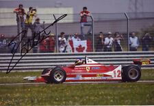 Jacques Villeneuve Signed 8X12 Inches F1 Ferrari Gilles Villeneuve Fiorano Photo