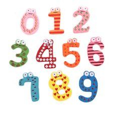 Kids Educational Toy Magnet MultiColor Wooden Fridge Number 0-9 Baby Diy
