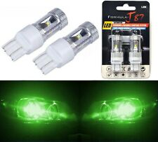 LED Light 30W 7444 Green Two Bulbs Rear Turn Signal Replace Upgrade Show Use