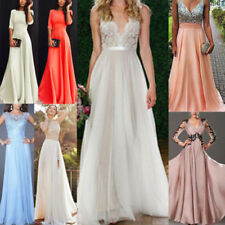 7f044c7e78e Women s Bridesmaid Prom Ball Gown Formal Evening Party Cocktail Maxi Dress  Lot
