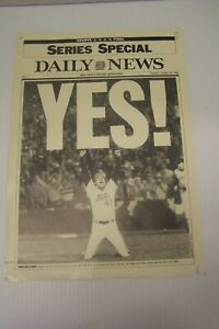 """The NY Mets Collectible Reprint of the NY Daily News Sports Final Cover """"YES!"""""""