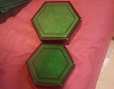 Vietnamese large Lacquer thanh le green jewelry box (2 items)