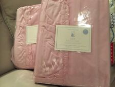 2 Nwt Pottery Barn Kids Lucy Velvet blackout drapes 44x84 light pink